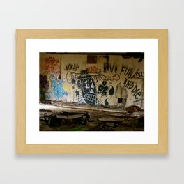 Abandoned Graffiti Framed Art Print