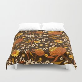 Australian Natives Wattle Gold Duvet Cover