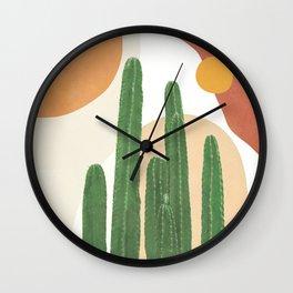 Abstract Cactus I Wall Clock