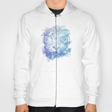 Abstract Watercolor Tiger Portrait / Face Hoody