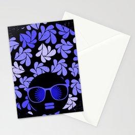 Afro Diva : Indigo Blue Periwinkle Stationery Cards