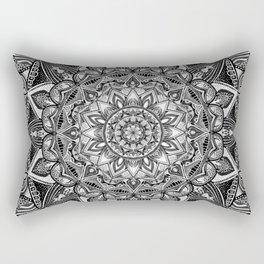 Black and white mandala Rectangular Pillow
