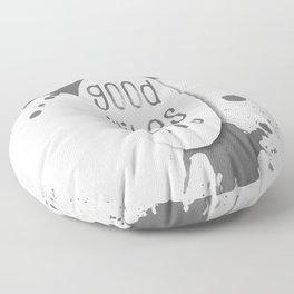 TEXT ART Good vibes only | grey Floor Pillow