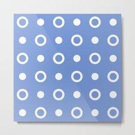 Polka Dot Pattern 244 Blue Metal Print