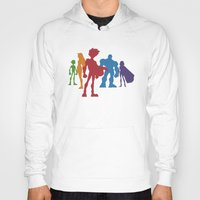 teen titans Hoodies featuring [ Teen Titans ] Robin, Starfire, Raven, Beast Boy and Cyborg by Vyles