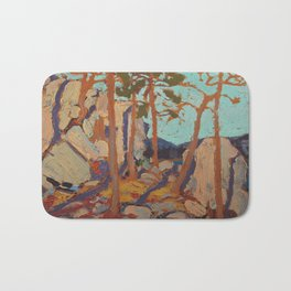 Tom Thomson - Pine Cleft Rocks - Canada, Canadian Oil Painting - Group of Seven Bath Mat