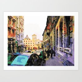 Catanzaro: course with cathedral Art Print