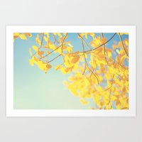 golden Art Prints featuring golden by Life Through the Lens