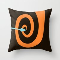 be brave Throw Pillows featuring Brave by Citron Vert