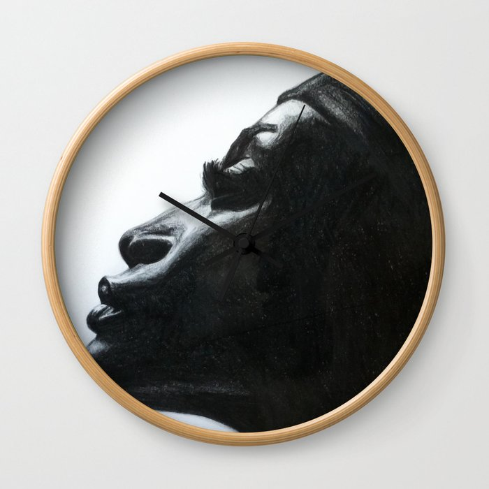 Black Woman Wall Clock