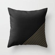 Tan & Black Stripes  Throw Pillow