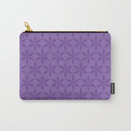 Violet Diamond Flowers Carry-All Pouch