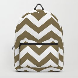 Gold Fusion - grey color - Zigzag Chevron Pattern Backpack