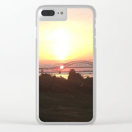 Robert Moses Bridge Sunset Clear iPhone Case