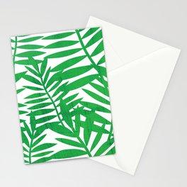 Tropical Leaf Print Stationery Cards