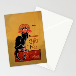 Le Chat du Feu Stationery Cards