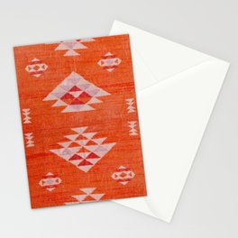 Vintage Orange Anthropologie Moroccan Artwork. Stationery Cards