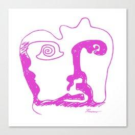 Swirl Face Line Art Canvas Print