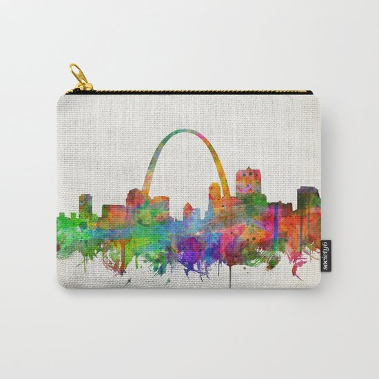 st louis city skyline watercolor Carry-All Pouch