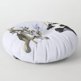 Donkey Xote and Sancho Panda (Colour) Floor Pillow