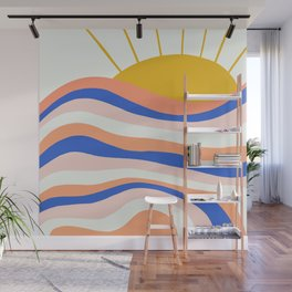 sunrise surf Wall Mural
