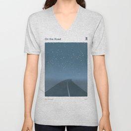 "Jack Kerouac ""On the Road"" - Minimalist literary art design, bookish gift Unisex V-Neck"