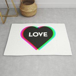 CMYK in RGB Love Heart Rug