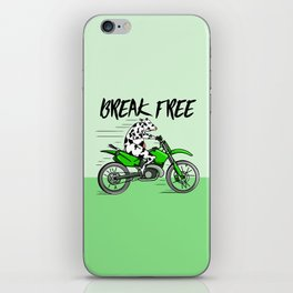 Cow riding a motorbike iPhone Skin