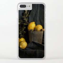Cassic still life with lemons Clear iPhone Case