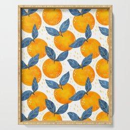Cyprus Oranges - Blue and Orange Serving Tray