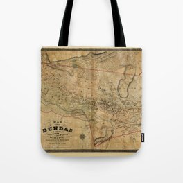 Map Of Dundas 1851 Tote Bag
