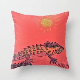 Crocodile Skink Throw Pillow