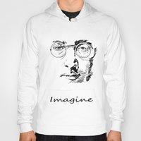 imagine Hoodies featuring Imagine by Paul Kimble