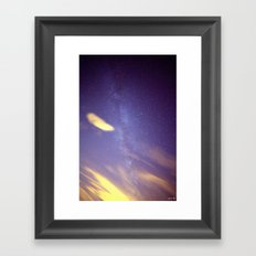 Cloudy with a Chance of Milky Way Framed Art Print