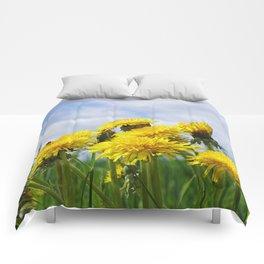 Dandelion meadow Comforters
