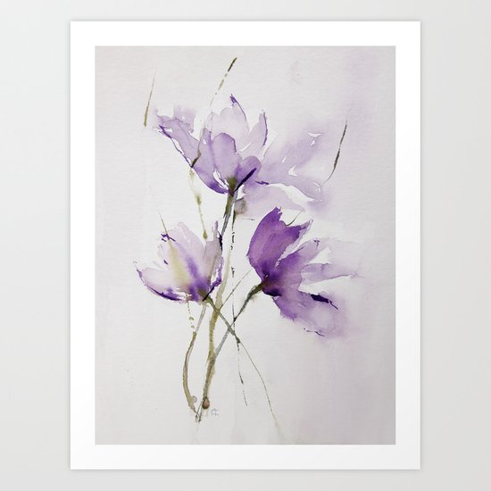 wilted tulips Art Print