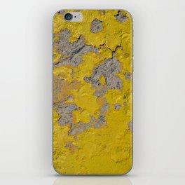 Yellow Peeling Paint on Concrete 1 iPhone Skin