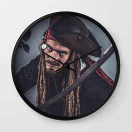 Pirate Sparrow Wall Clock