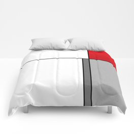 Geometric simple modern red gray black pattern Comforters
