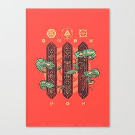 Alien Sorcery Canvas Print