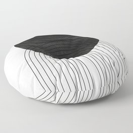 Line Art and Circle Floor Pillow