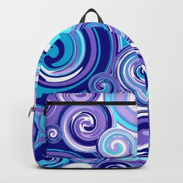 Whirlwind in Turquoise, Lavender, Purple, Navy Backpack