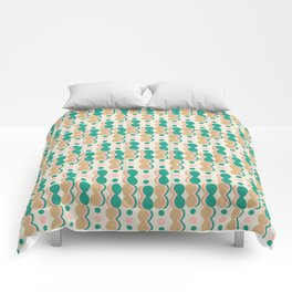 Uende Cactus - Geometric and bold retro shapes Comforters