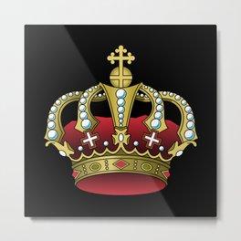 Crown Red Metal Print