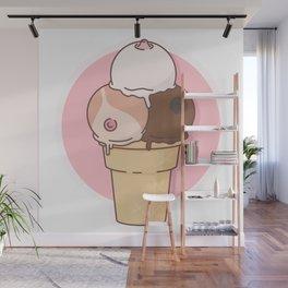 Boobs Icecream Wall Mural