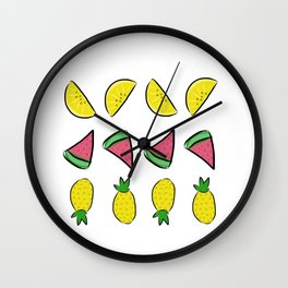 summertime sweetness - fresh fruit Wall Clock