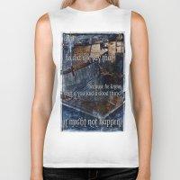 hemingway Biker Tanks featuring Ernest Hemingway by Ginevra