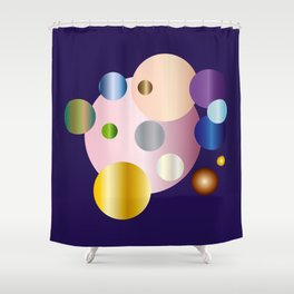 planetarium abstract geometrical design Shower Curtain