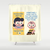psychology Shower Curtains featuring Muted Affection by David Olenick