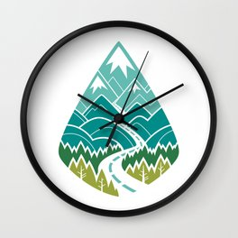 The Road Goes Ever On : Spring (white) Wall Clock